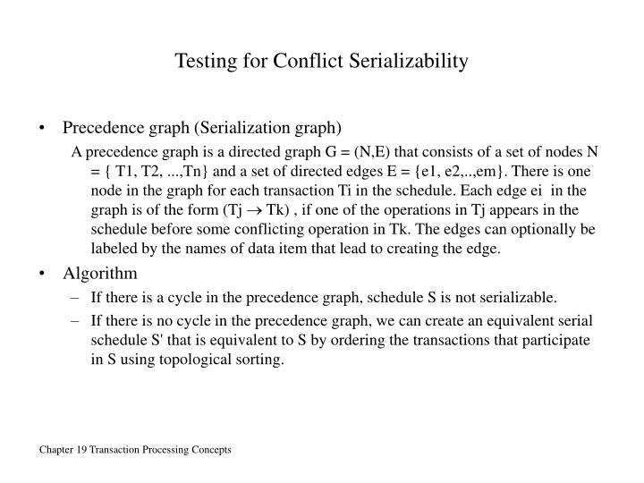 Testing for Conflict Serializability