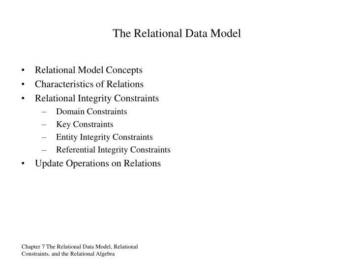 The Relational Data Model