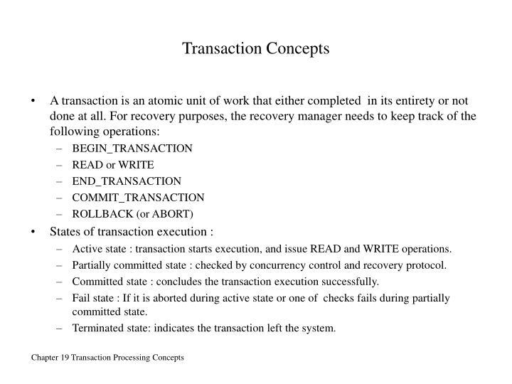 Transaction Concepts