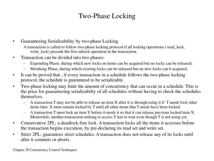 Two-Phase Locking