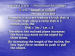 inclined plane mechanical advantage