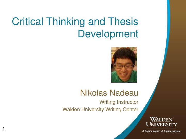 thesis development and purpose
