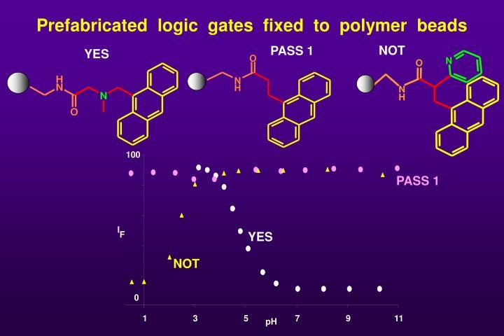 Prefabricated  logic  gates  fixed  to  polymer  beads
