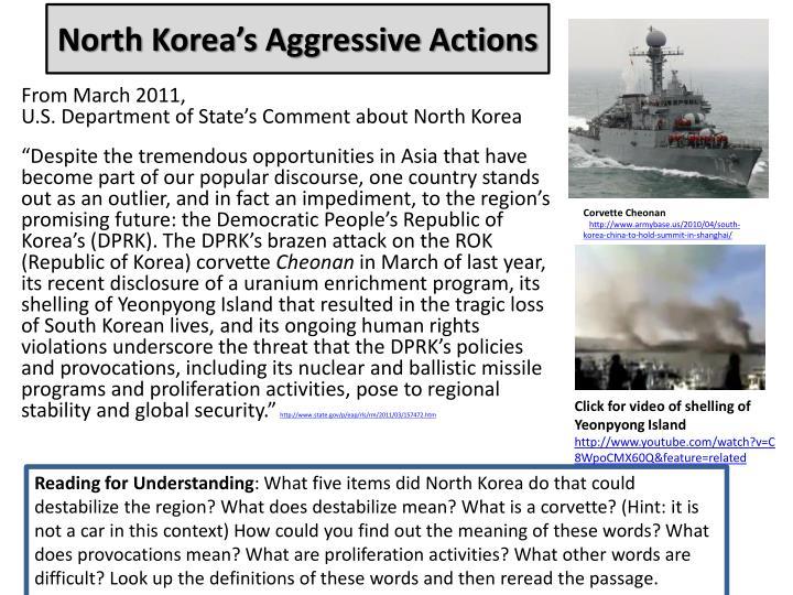 North Korea's Aggressive Actions