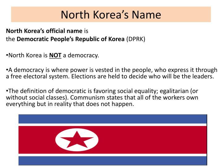 North Korea's Name