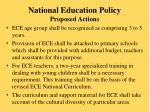 national education policy proposed actions
