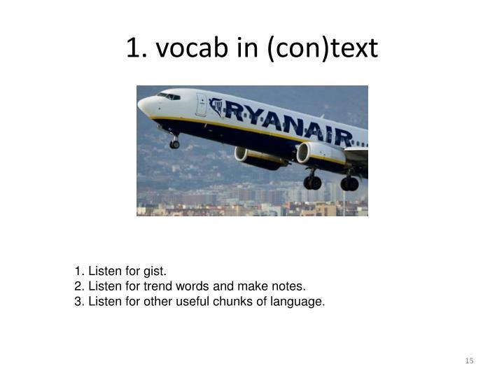 1. vocab in (con)text