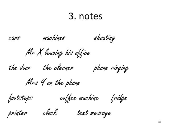 3. notes