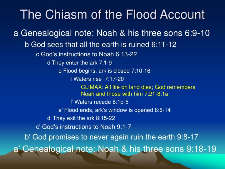The Chiasm of the Flood Account