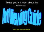today you will learn about the infamous