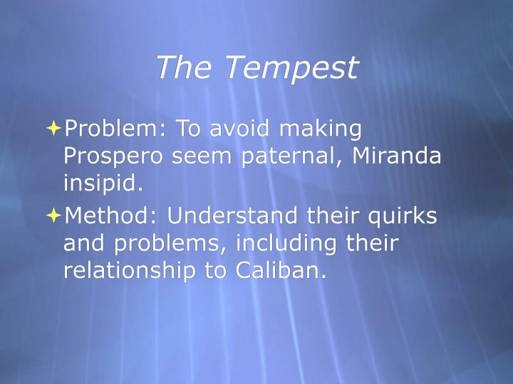 family relationship in the tempest