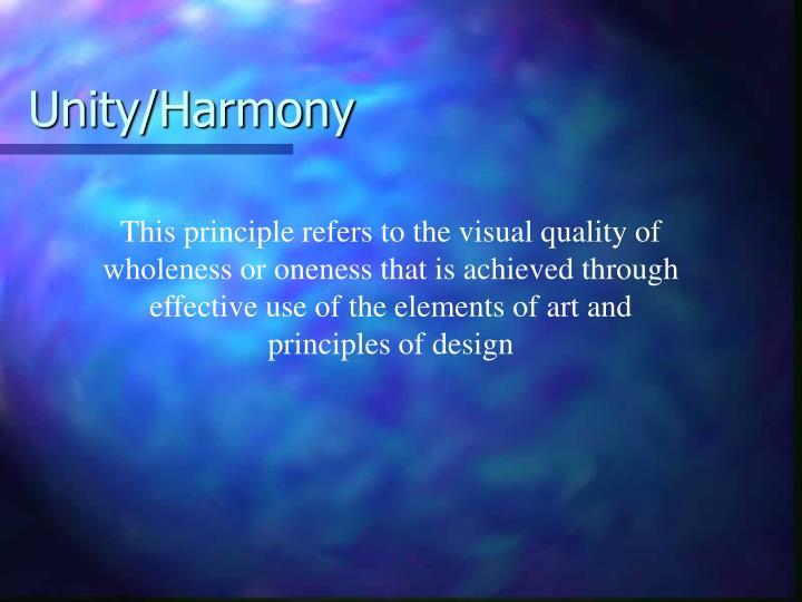 Unity/Harmony