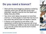 do you need a licence