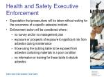 health and safety executive enforcement
