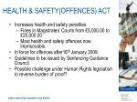 health safety offences act