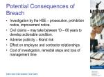 potential consequences of breach