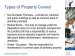 types of property covered