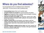 where do you find asbestos