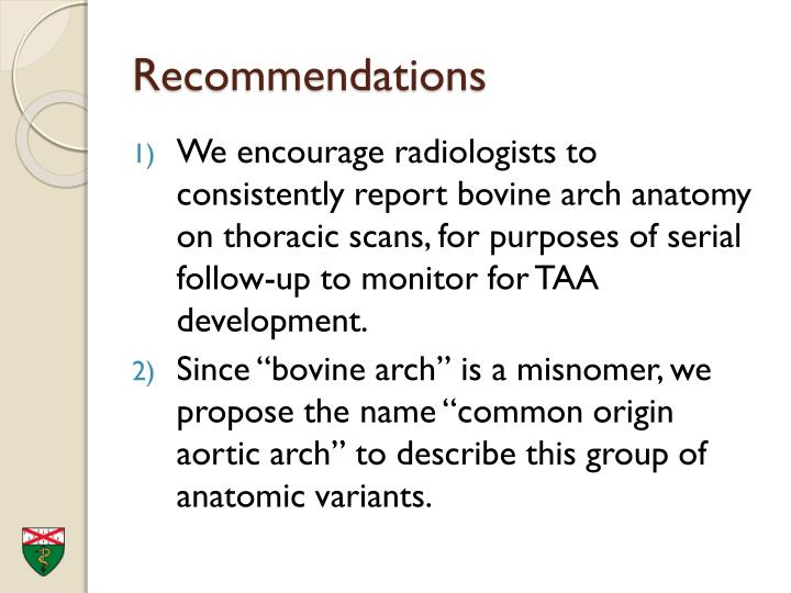 PPT - Bovine Arch – A Marker for Thoracic Aortic Aneurysm PowerPoint ...