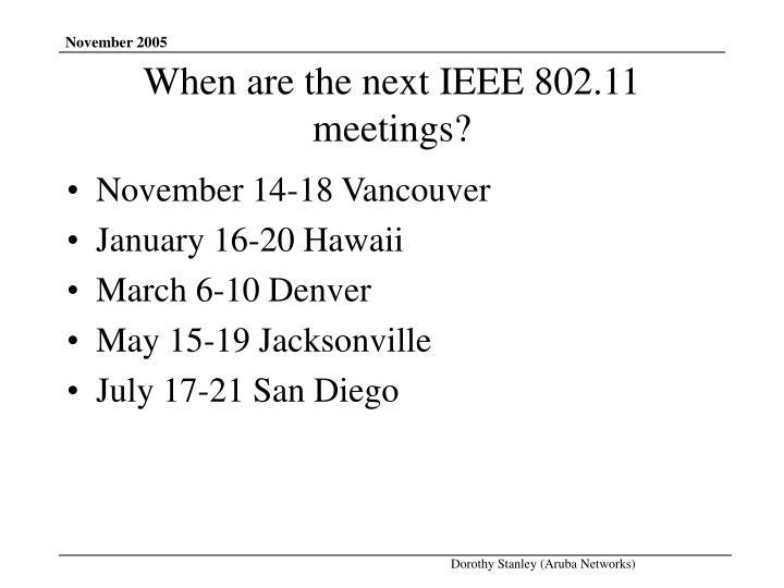 November 14-18 Vancouver