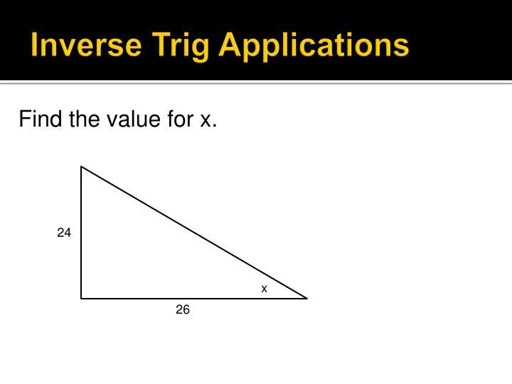 Inverse Trig Applications