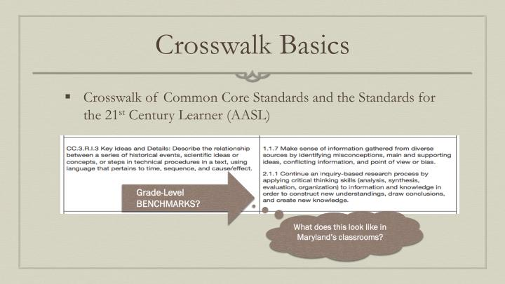 Crosswalk Basics