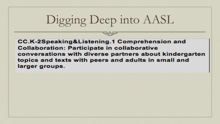 Digging Deep into AASL