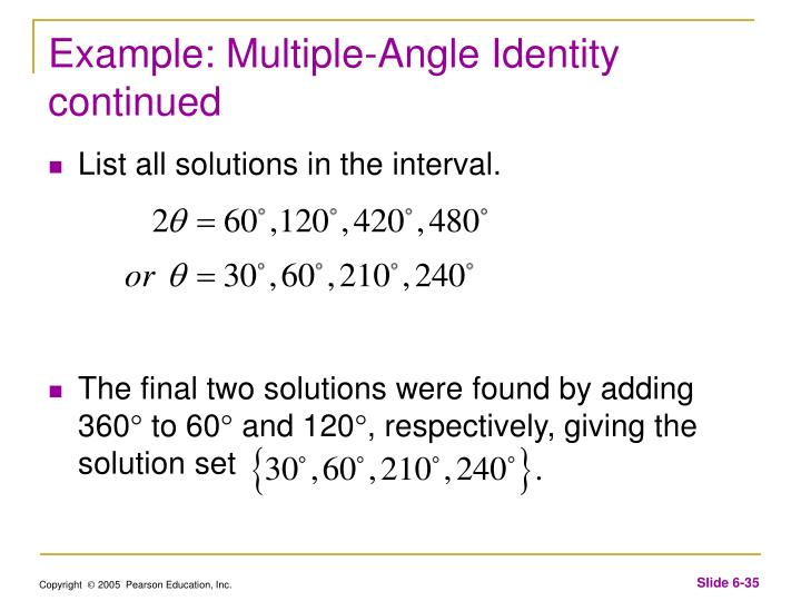 Example: Multiple-Angle Identity continued