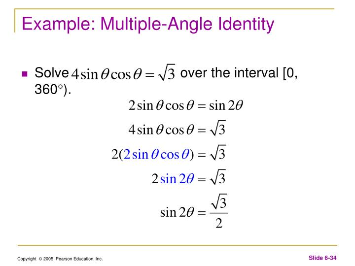 Example: Multiple-Angle Identity