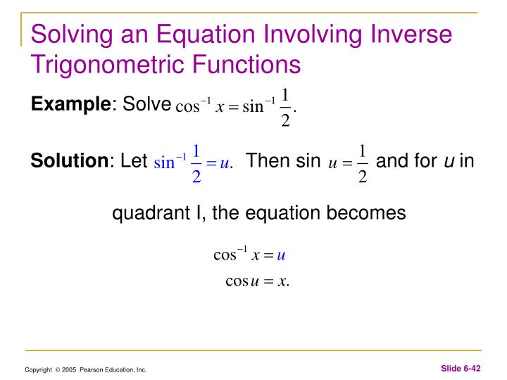 Solving an Equation Involving Inverse Trigonometric Functions