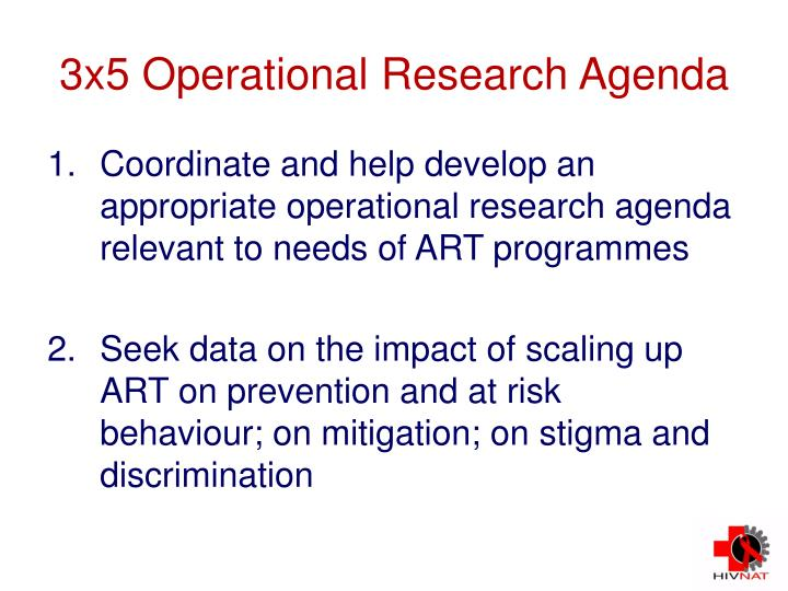 3x5 Operational Research Agenda