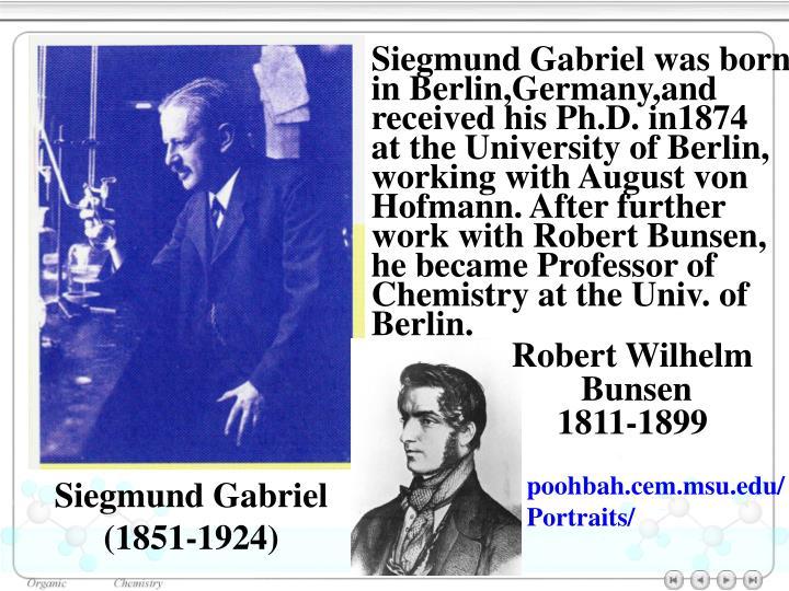 Siegmund Gabriel was born