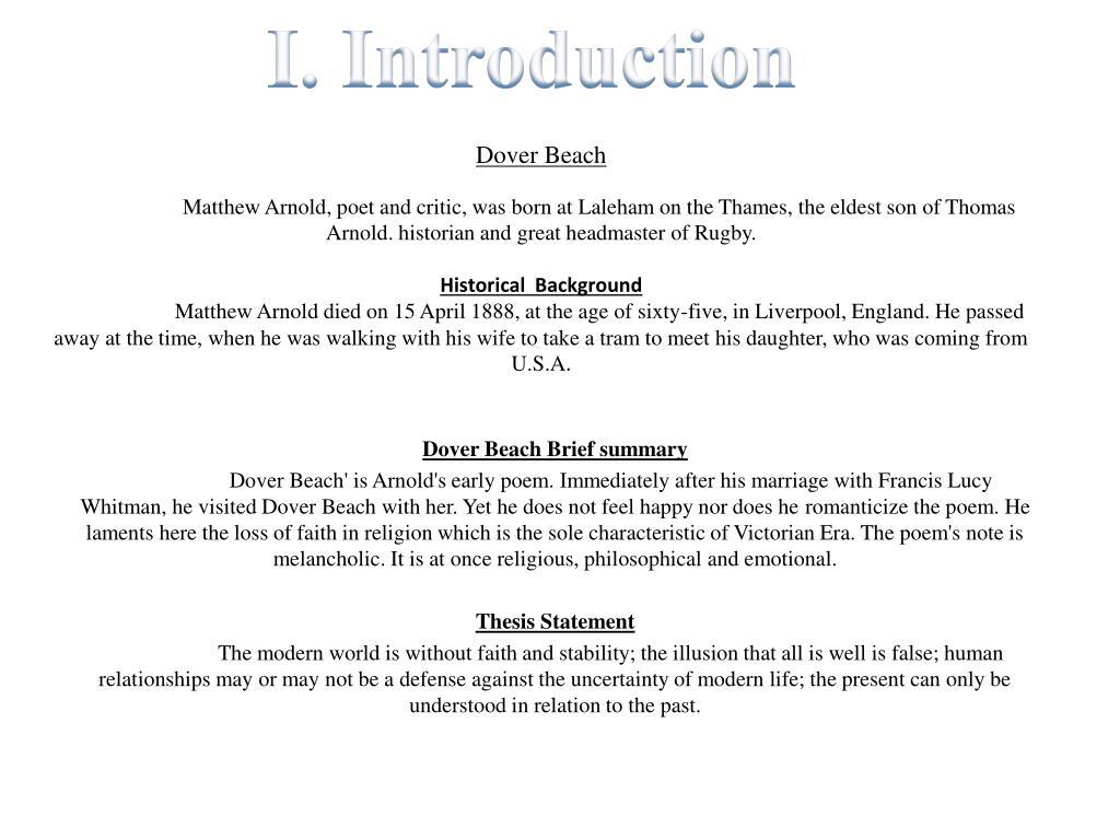 Ppt Dover Beach Brief Summary Powerpoint Presentation Free Download Id 5372150 Paraphrase