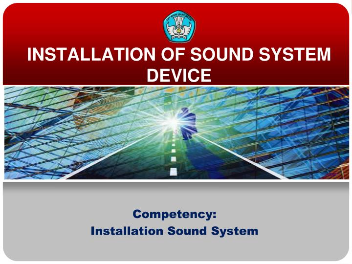 installation of sound system device n.