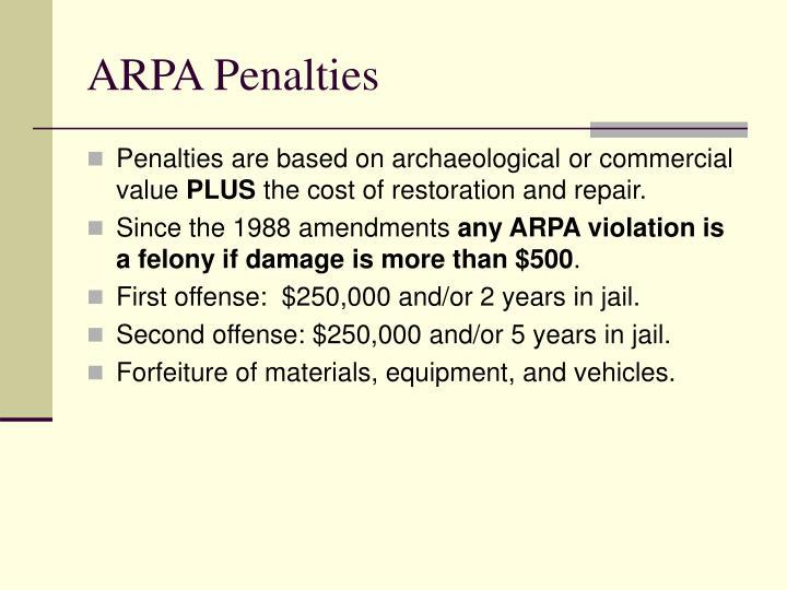 ARPA Penalties
