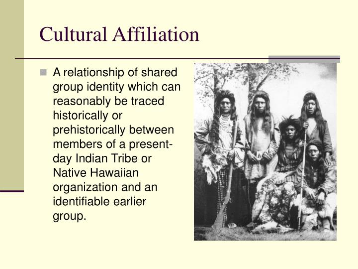 Cultural Affiliation