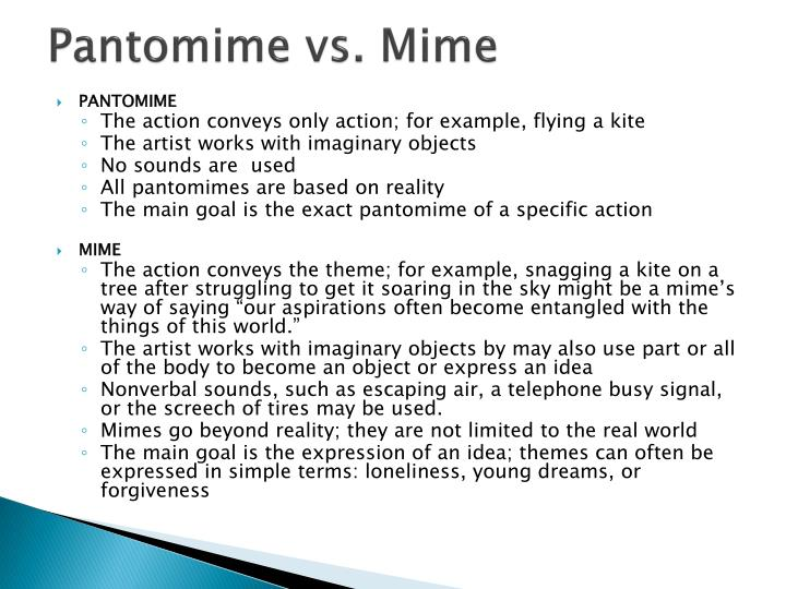 Pantomime vs. Mime