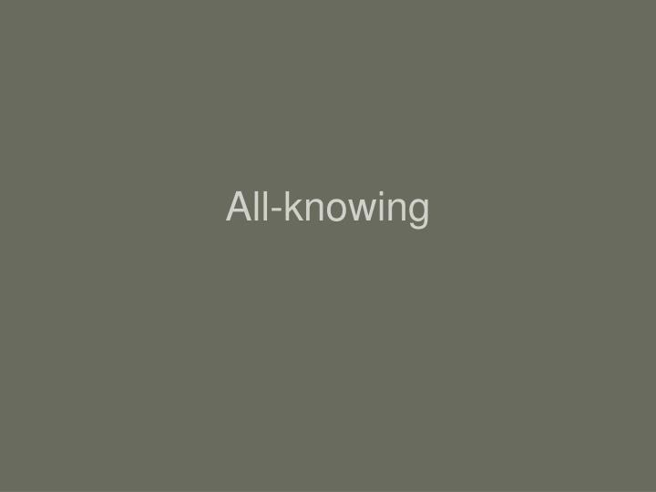 All-knowing